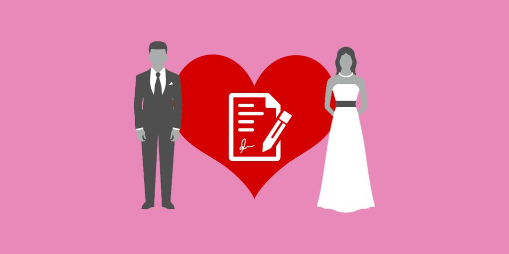 Заключение брачного договора между мужем и женой